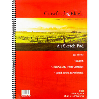 Crawford And Black A4 Sketchbook, Art & Craft, Brand New • 4£
