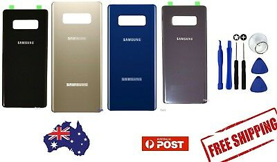 AU12.59 • Buy Samsung Galaxy Note 8 9 Back Glass Replacement Housing Battery Door Cover Case