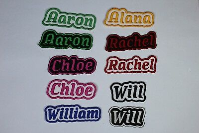 Personalised Embroidered Name Patch - Iron Or Sew On **FREE  POST* • 3.25£