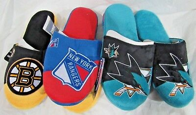£19.57 • Buy NHL Colorblock Slippers By Forever Collectibles -Select- Size AND Team Below