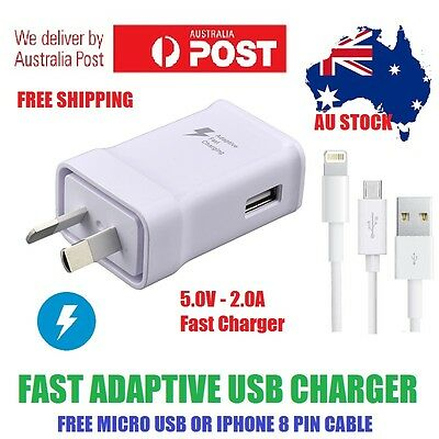 AU4.88 • Buy Genuine SAMSUNG Adaptive Fast Charger Adapter And A+ USB Cable - FREE AU POST