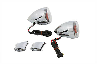 Rear Turn Signal Kit Clear Lens Red LED,for Harley Davidson,by V-Twin • 44.52£
