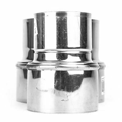 Stainless Steel Reducer Ducting Pipe Steel Connector Adaptor Chimney Flue Liner • 14.49£