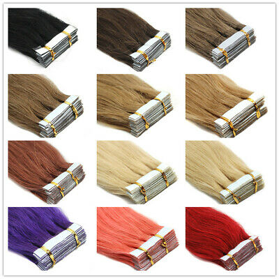 8A* Best Quality 14''-24  Tape-In Russian Remy Human Hair Extensions UK Sell 1st • 22.99£