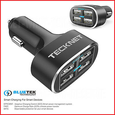 £12.98 • Buy Universal 4 Port In Car Phone Battery Charger Multi Travel USB Iphone Samsung