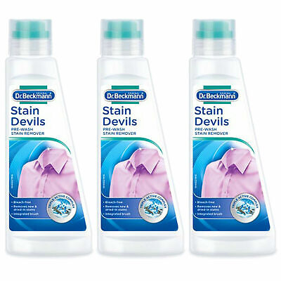Dr Beckmann Stain Devils Pre Wash Stain Remover 250ml  X3 • 9.95£