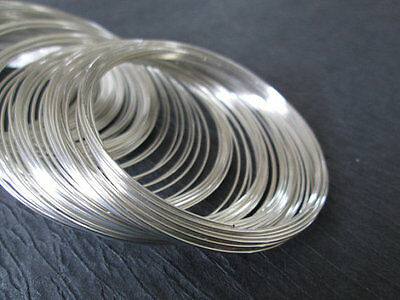 £3.59 • Buy 100 X Steel Ant Silver Bracelet Memory Wire Coils 55mm X 0.6mm Cuff Bangle Loop