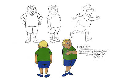$ CDN26.46 • Buy Addams Family PUGSLEY MODEL SHEET HB Cartoon