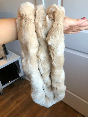 $40 • Buy 100% Real Rabbit Fur Scarf Shawl Collar Stole Cape Scarves Winter Scarf Wrap