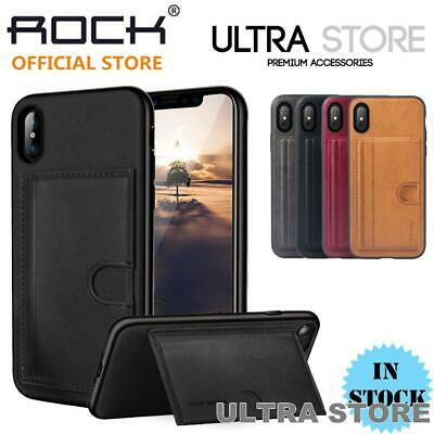 AU9.95 • Buy ROCK CANA Hybrid Card Slot Holder Kickstand Cover Case For IPhone X XS 7 8 Plus
