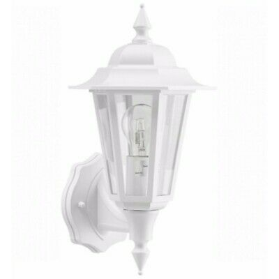 £20 • Buy Greenbrook Traditional White Porch Light IP44 Outdoor Wall Security Lantern