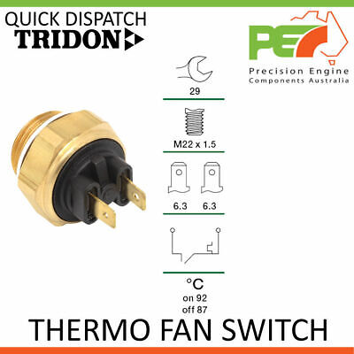 AU45 • Buy New * TRIDON * Thermo Fan Switch  For Fiat 124, 128, 131, 132 X1/9 All