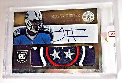 $39.95 • Buy Justin Hunter Titans 2013 Totally Certified RC Prime Patch Auto Rookie 14/25
