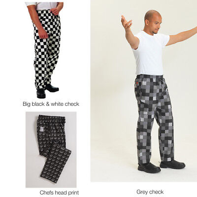 *Warehouse Clearance* Le Chef Print Design Chef, Kitchen & Work Trousers (DF56) • 15.95£
