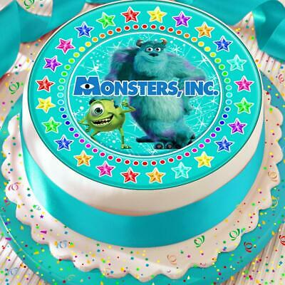 Monsters Inc Star Border 7.5 Inch Precut Edible Cake Topper Decoration • 4.39£