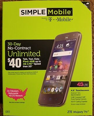$ CDN76.42 • Buy LOT OF ZTE Majesty Simple Mobile NIB With SIM Kit And $25 Card