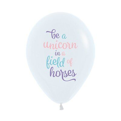 AU6.95 • Buy Party Supplies Girls Birthday Fantasy Be A Unicorn 30cm Latex Balloons Pk 10