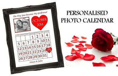 AU9.13 • Buy Valentines Day Gift For Him Her When You Became My Boyfriend Husband Calendar