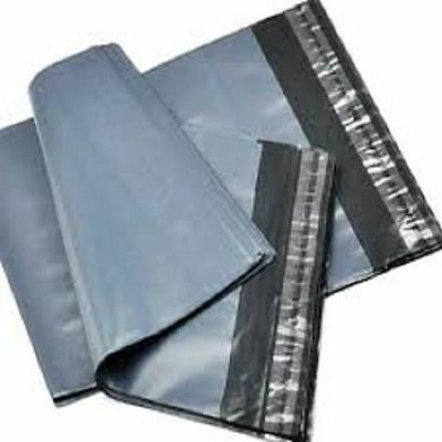 10 Strong Grey Mailing Packaging Plastic Bags Large Size 17' X 24' QUICK POSTAGE • 2.79£