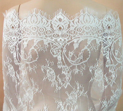 £14.95 • Buy Chantilly Costume Dancing Dress Lace Fabric Wedding Veiling Stretch Tulle 1 PC