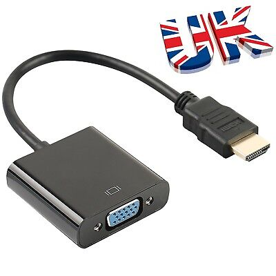 Input HDMI To Output VGA Cable Converter Adapter For Apple TV Monitor Xbox DVD • 5.49£