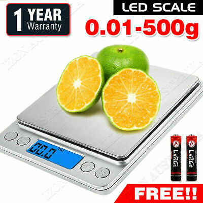 AU15.98 • Buy 0.01G-500G Electronic Mini Digital Pocket Jewelry Gold Weighing Kitchen Scales