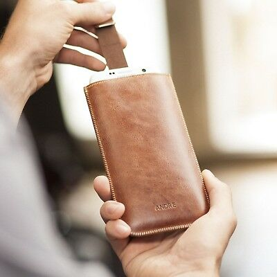 $ CDN53.56 • Buy Sony Xperia Brown Pull Band Genuine Real Leather Cover Sleeve Case Pouch Shell