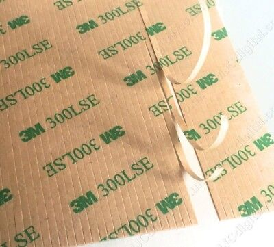 50pcs 3M 9495LE 100mm X 2mm Clear Double Sided Adhesive Strips Phone Repair • 2.99£