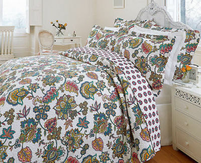 Hotel Quality Indian Tree Quilted Bedspread Throw Set And Pillow Sham Blanket  • 24.49£