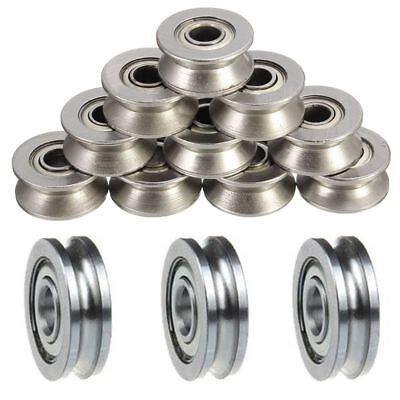 $6.86 • Buy 5pCS Guide Wheels Roller U Groove Pulley Ball Bearing Sealed Guide Wire Track