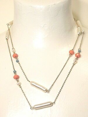 $ CDN12.41 • Buy Beautiful Lia Sophia  CORAL REEF  Necklace, 38-41 , Freshwater Pearls, NWT