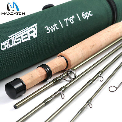 $71 • Buy Maxcatch Travel Fly Fishing Rod 2/3/4wt 7'6'' 6Pcs,IM10 Carbon Blank,Fast Action