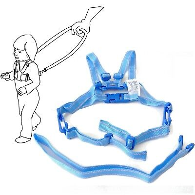 Baby Kid Toddler SAFETY HARNESS Learning Walk Assistant Walking Reins Light Blue • 4.97£