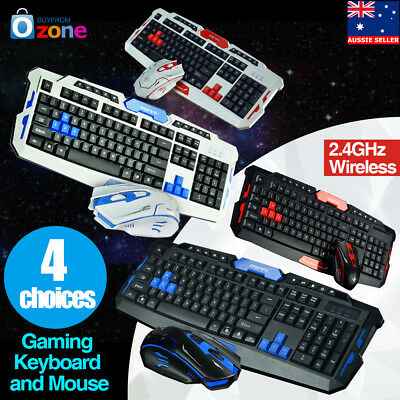AU54.99 • Buy 2.4GHz Wireless Gaming Keyboard And Mouse Set Desktop Laptop For Home/Office