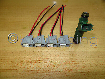 (4x) toyota fuel injector wiring harness connector pigtails (quick  disconnect) • 14 95