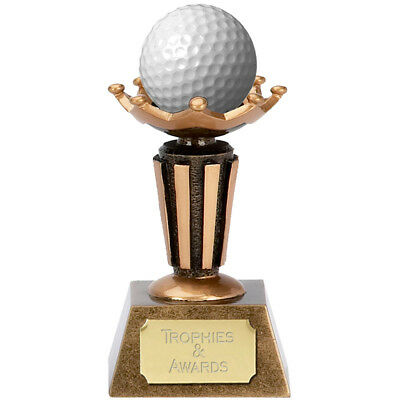 Golf Trophy Engraved Free Golf Ball Holder Display Stand Hole In One Trophies • 15.99£