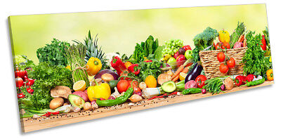 £34.99 • Buy Fresh Vegetables Café Kitchen Picture PANORAMA CANVAS WALL ART Print