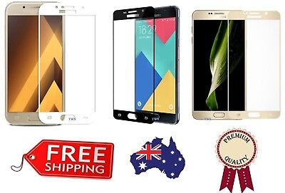 AU5.49 • Buy Full Cover Tempered Glass Screen Protector For Galaxy J5 J7 Pro A5 J8 A20 A30
