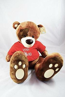 With Love Giant Brown Teddy Bear Soft Toy Cuddly Valentines Day Gift 24  Large • 59.99£