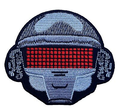 Daft Punk Patch (3 Inch) NEW Iron On Badge Music Homework Robot Helmet Patches • 5.37£