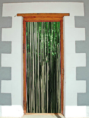 Green Shimmer Foil Curtain 2mx1m Door Stage Party • 8.80£