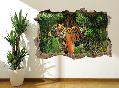 Tiger In The Jungle Wildlife Photo Wall Sticker Wall Mural (9837894) • 9.89£