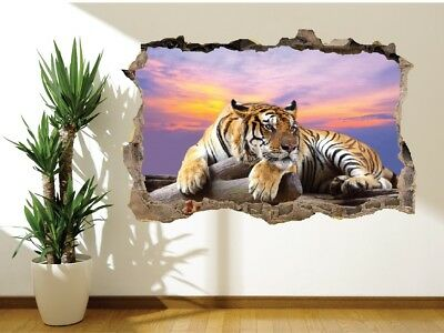 Wall Sticker Tiger Chilling At Dusk Nature Wildlife Wall Mural Photo (23869521) • 9.89£