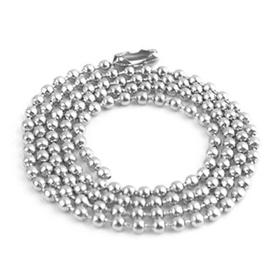 £1.20 • Buy 1.0mm Silver Ball Bead Chain Necklace! Soldier Tag