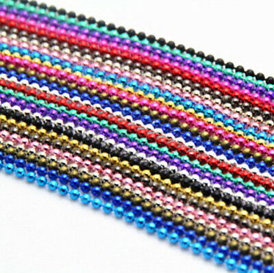 £1.45 • Buy Multicoloured 70cm 1.0mm  Ball Bead Chain Necklace! Soldier Tag