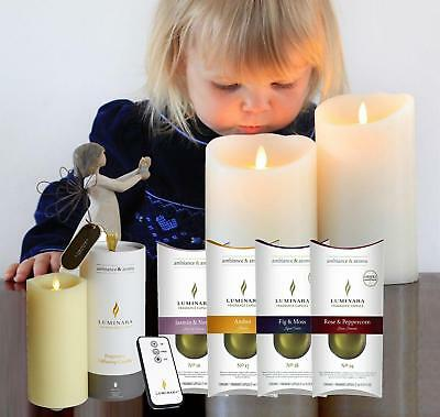 Luminara Fragrance Diffusing Flameless Flicker Effect Remote & Timer Wax Candle • 54.99£