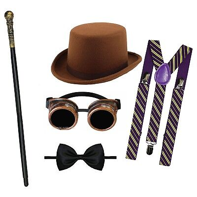 £14.50 • Buy Chocolate Factory Costume Willy Wonka Boy World Book Day Week Fancy Dress Outfit