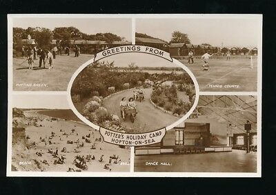 Norfolk HOPTON-ON-SEA Potter's Holiday Camp M/view Used 1954 RP PPC • 12£