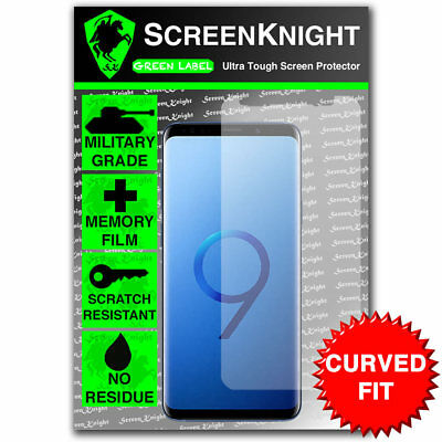 $ CDN7.04 • Buy ScreenKnight Samsung Galaxy S9 PLUS (S9+)  SCREEN PROTECTOR - CURVED FIT