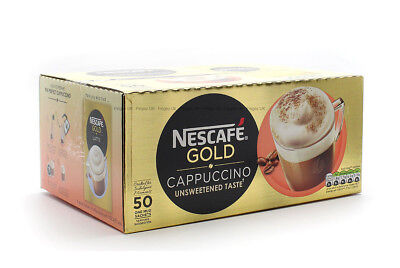 50 Nescafe 1 Cup Cappuccino Sachets - Unsweetend 100% Coffee Beans • 11.85£